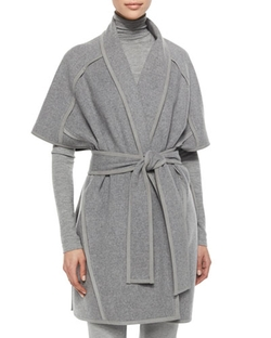 Donna Karan - Double-Faced Cashmere Belted Coat