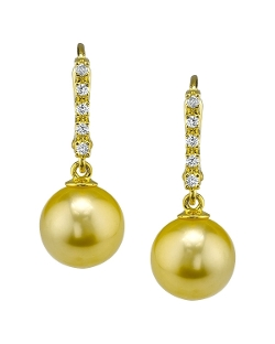 The Pearl Source - Cultured Pearl Dangling Britney Earrings