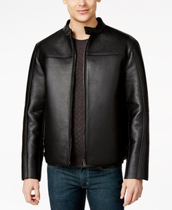 INC International Concepts - Gomez Bonded Fake-Leather Jacket
