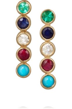 Jennifer Meyer - Gold Multi-Stone Earrings