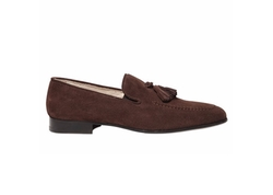 Dino Draghi   - Suede Tasseled Loafers
