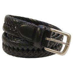 Aquarius - Tubular Hand Laced Leather Braided Belt