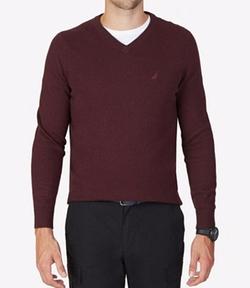 Nautica - V-Neck Solid Sweater