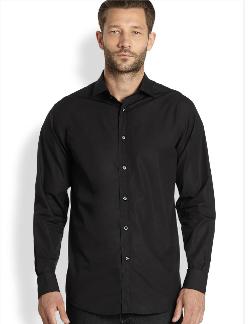 Ralph Lauren Black Label  - Stretch-Cotton Sportshirt