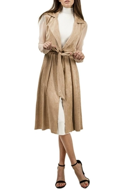 Lux LA - Suede Trench Coat