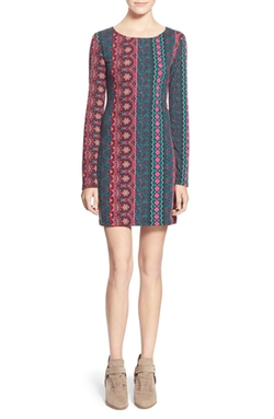 Mimi Chica  - Print Cutout Body-Con Dress