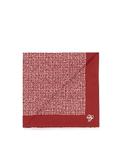 Canali   - Colourblock Scratch Pattern Silk Pocket Square