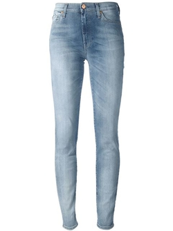 7 For All Mankind   - High Waisted Slim Fit Jean