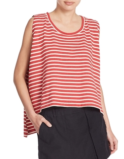 Free People - Cropped Striped Tank Top