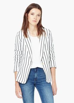 Mango - Striped Blazer