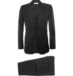Saint Laurent   - Black Slim-Fit Wool Suit