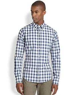 Vince  - Cotton Check Button-Front Shirt