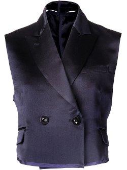 Sacai  - Cropped Vest