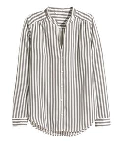 H&M - Striped Satin Blouse