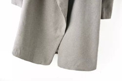 Romwe - Lapel Belt Wrap Long Coat
