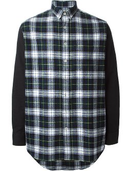 Ami Alexandre Mattiussi  - Contrasting Sleeve Shirt