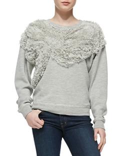 Jason Wu  - Chiffon Embellished Sweatshirt
