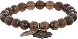 Miracle Icons - Smoky Topaz Charm Bracelet