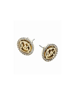 Michael Kors   - Logo Gold-Tone Stud Earrings