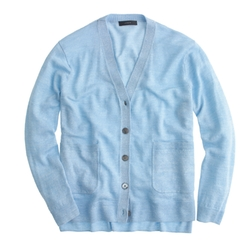 Merino - Linen V-Neck Cardigan Sweater
