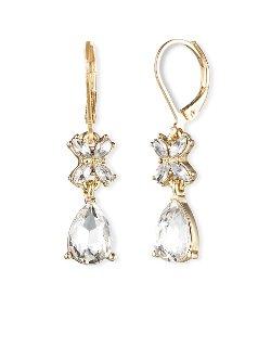 Anne Klein - Rhinestone Drop Earrings