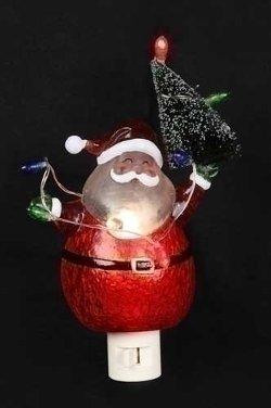Roman - Jolly Santa Claus with Tree Christmas Night Lights