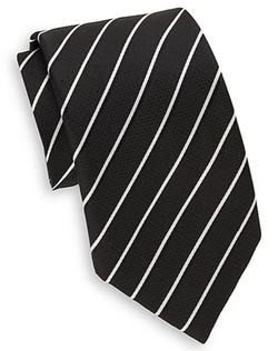 Saks Fifth Avenue  - Two-Tone Striped Silk Tie