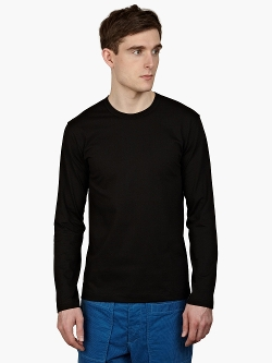 Comme Des Garcons  - Long-Sleeved Cotton T-Shirt