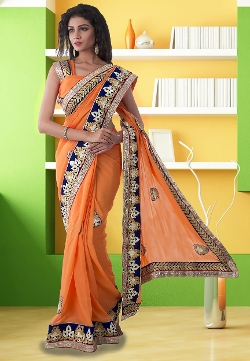 Utsavfashion - Faux Georgette Saree