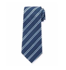 Armani Collezioni  - Woven Diagonal-Stripe Silk Tie
