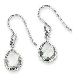 Gemaffair - Diamond & Green Quartz Earrings