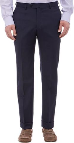 Isaia - Gabardine Cuffed Trousers