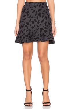 J.O.A. - Flounce Leopard Skirt