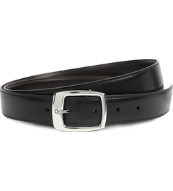 Montblanc - Reversible Logo-Detailed Leather Belt