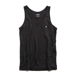 Todd Snyder  - Linen Jersey Button Pocket Tank Top