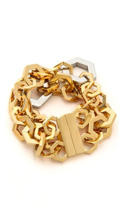 Tory Burch  - Hexagon Metal Bracelet