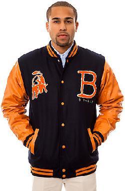 BGRT - The Bullies Varsity Jacket in Navy and Orange