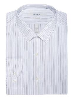 Perry Ellis - Slim Fit Uneven Stripe Dress Shirt