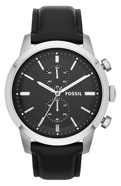 Fossil - Townsman Chronograph Leather Strap Watch