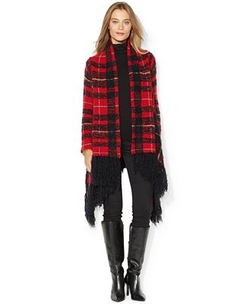 Lauren Ralph Lauren - Plaid Wrap Sweater