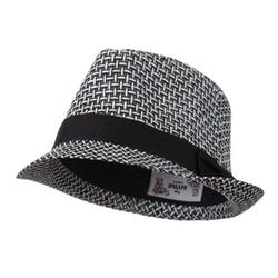 Hatiya - Multi Woven Straw Fedora Hat