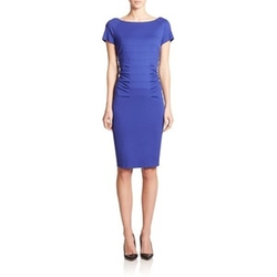 Escada - Dondi Ruched Boatneck Sheath
