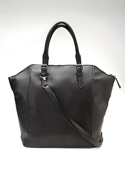 Forever 21 - Structured Faux Leather Tote Bag