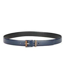 Calvin Klein - Leather And Wooden Buckle Belt