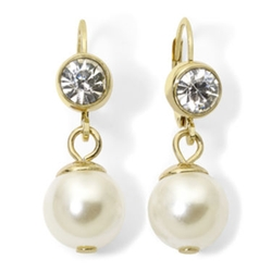 Monet - Stimulated Pearl and Crystal Drop Earrings