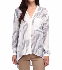 Helmut Lang - Long Sleeve Silk Top