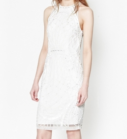 French Connection - Pearl Embellished Cage Dress