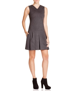 Vince  - Drop Waist Pleat Dress