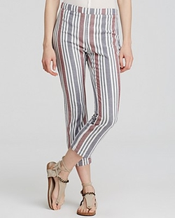 Free People - Striped Cropped Pants