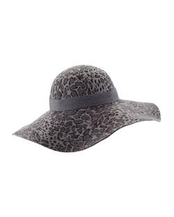 Helen Kaminski - Mala Floppy-Brim Hat, Leopard Print